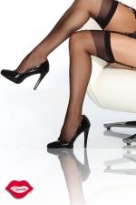 Bas nylon Coquette - Bas nylon, un classique de féminité à fixer sur vos jarretelles.