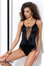 Body Brida  - Body lingerie noir scintillant, souligné de tulle transparent aux riches broderies.