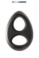 Double anneau de pénis - Blue Junker - Double anneau de pénis extensible, en silicone extra doux au toucher, pour serrer la verge et les testicules.