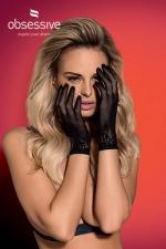 Gants noirs Lustella - Obsessive - Avec cette paire de gants en résille, ajoutez la petite touche sexy qui sublimera votre tenue.