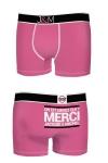 Boxer J&M en coton - Fuschia - Ne loupez jamais une belle occasion de montrer votre... Boxer (modèle fuschia en coton) Jacquie et Michel.