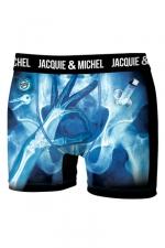 Boxer J&M Rayon X - Boxer Jacquie & Michel humoristique en microfibre représentant une image aux rayons X, prise au moment opportun.