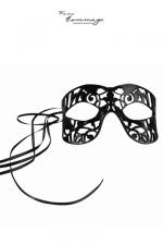 Masque Fragile - Faire Hommage - Masque coquin en cuir d'agneau, fait à la main,  avec découpes raffinées et sensuelles.