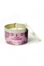 Bougie de massage Frangipanier - Bougie de massage parfum Frangipanier fabriquée en France pour des moments sensuels.