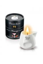 Bougie de massage - Daiquiri fraise - Bougie érotique se transformant en huile de massage sensuelle au goût du célèbre cocktail Daiquiri Fraise.