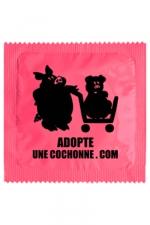 Préservatif humour - Adopte Une Cochonne - Préservatif  Adopte Une Cochonne , un préservatif personnalisé humoristique de qualité, fabriqué en France, marque Callvin.