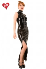 Robe longue Mystique Dress - Robe longue fourreau en vinyle avec deux zips sur les cuisses pour ajuster son look... ravageur !